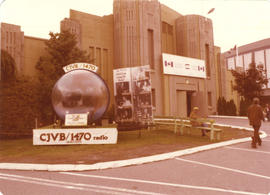 CJVB Radio Station on grounds, in front of Explore Canada Pavilion