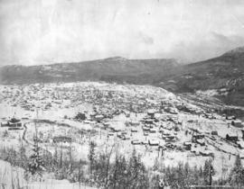 [Bird's eye view of Rossland from Red Mountain]