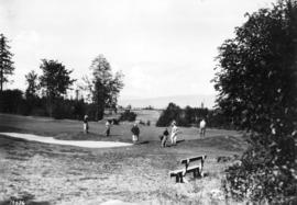 [View of the fourth green at Jericho Country Club]