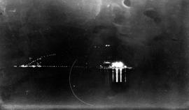 Lake Buntzen at night during construction of No. 2 [powerhouse]