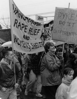 International lesbian week march 1992 [Vancouver Rape Relief and Women's Shelter]