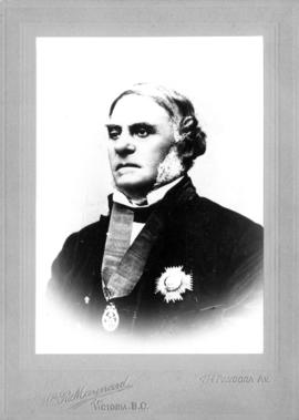 "[Portrait of Sir James Douglas, presented to Mr. & Mrs. E.M. McVicker ""with best wishes ..."