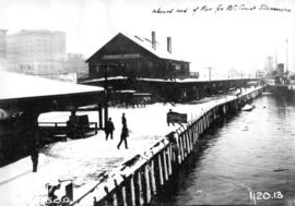 Inboard end of Pier for B.C. Coast Steamers [Construction progress photograph of the third CPR st...