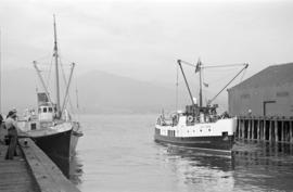 "[The ""Lady Pam"" and the ""Lady Rose"" at dock]"