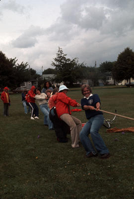 Olympic Day at Carnarvon Park with adult tug of war