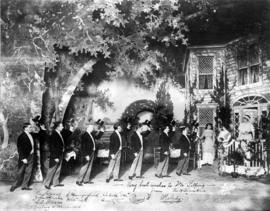 "[Signed photograph by cast of ""The Bower of Melody"" given to Mr. Jim Pilling, Manager o..."