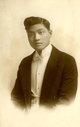 [Wedding portrait of Yip Kew Him]
