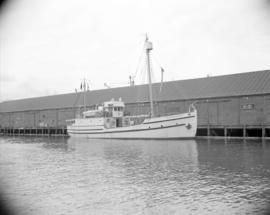 "[The R.C.M. Police ""St. Roch"" at dock]"