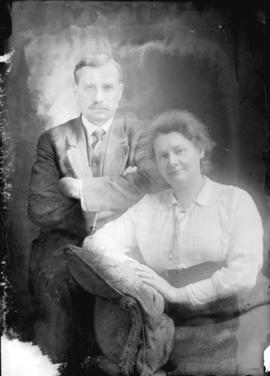[Studio portrait of George H. Keefer and his wife]