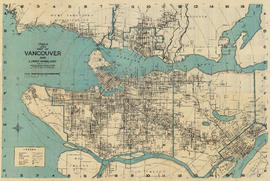 Wrigley's 1930 map of Vancouver and Lower Mainland