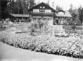 Stanley Park [showing] water lilies in pond