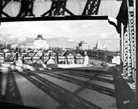 [Northward view from the center of the Burrard Bridge]