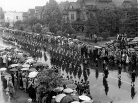 Women's Training Corps marching in Canada Pacific Exhibition's All Out for Victory Parade