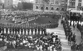 [ View of the reception held for the Duke of Connaught in the court house grounds]