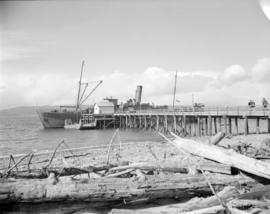 [Boats and ships at dock] at Sandspit [on the] Queen Charlotte Islands