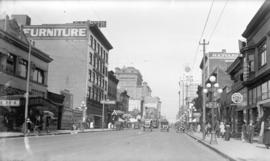[View of Granville Street, looking north from Nelson Street]