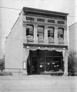 [Exterior of Edwards Bros. Photo Supplies and The Vancouver Business College - 625 Granville Street]