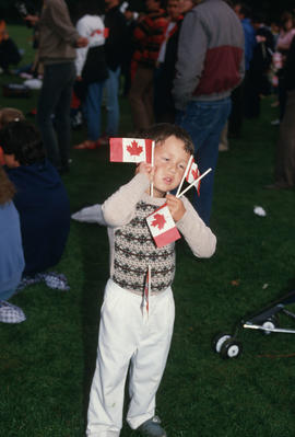 Child at the Centennial Commission's Canada Day celebration