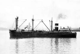 "S.S. ""Chilkoot"" - a China-coaster type freighter completed for Waterhouse operation at ..."