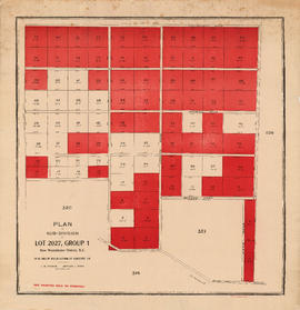 Plan of sub-division of lot 2027, group 1, New Westminster District, B.C., to be sold by public a...