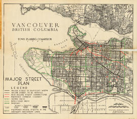 Vancouver British Columbia. Major street plan