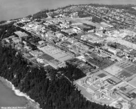 [Aerial view of the University of British Columbia campus]