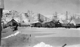 [An internment camp in winter]