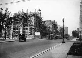 St. Andrew's Wesley Church, Nelson and Burrard Streets, in course of construction