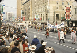 48th Grey Cup Parade, on Georgia and Howe, Facts about Toronto banner
