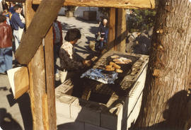 Salmon barbeque at Coast Salish Native Village display