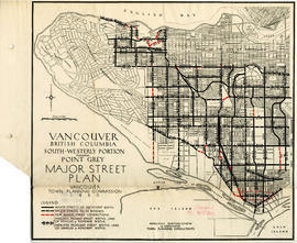 Vancouver, British Columbia : south-westerly portion, formerly Point Grey : major street plan