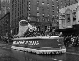 B.C. Electric float in 1950 P.N.E. Opening Day Parade