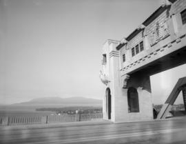 Burrard Bridge and English Bay in background