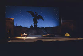 Stage for Vancouver Opera's 1968 performance of Tosca, Act 3