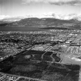 Aerial photo, oblique, 41st Ave. and Oak St., Vancouver
