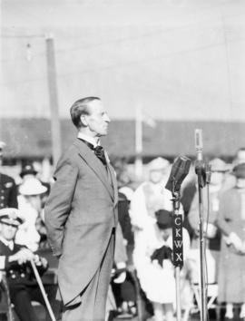 Lord Tweedsmuir opens exhibition, 26 August 1936