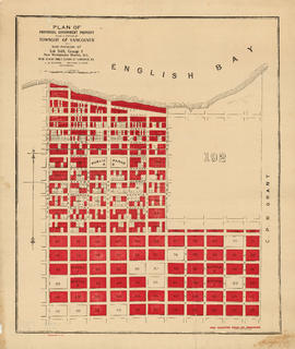 Plan of provincial government property being a portion of townsite of Vancouver and sub-division ...