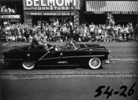 B.C. Lions car in 1954 P.N.E. Opening Day Parade