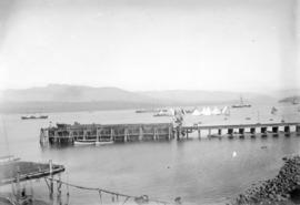 [C.P.R. car barge and transfer wharf at foot of Thurlow Street]