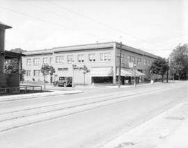 [View of the corner of Denman Street and Nelson Street]