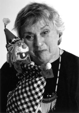 Peg Clark and puppet
