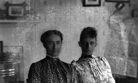 C.L.P. [Caroline Little Pierce] and Mrs. T. Wentworth, d[augh]ter of O.J.P. [Osborne J. Pierce]&#...