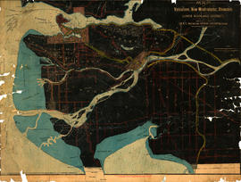 Map of Vancouver, New Westminster, Steveston and the Lower Mainland District