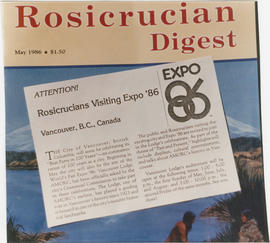Cover of Rosicrucian Digest with Expo 86 advertisement