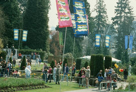 People in Stanley Park during Centennial birthday celebration