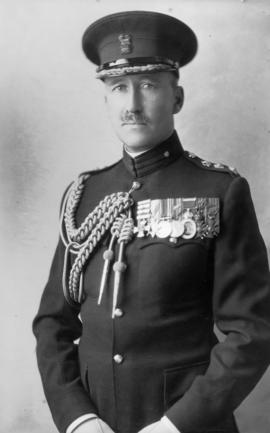 Portrait of man in military uniform