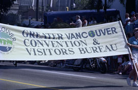 Greater Vancouver Convention and Visitors Bureau banner in Sea Festival Parade