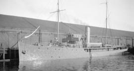 "[H.M.C.S. ""Malaspina"" at dock]"