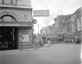 [Canadian Pacific Railway train crossing at Hastings Street]