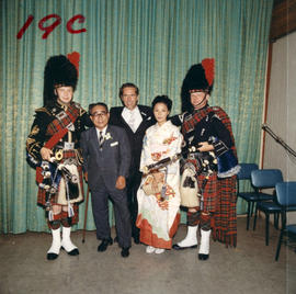 Yokohama Mayor I. Asukata, Vancouver Mayor Tom Campbell, and others at P.N.E. event
